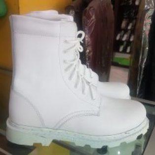 Sepatu PDL kulit Putih