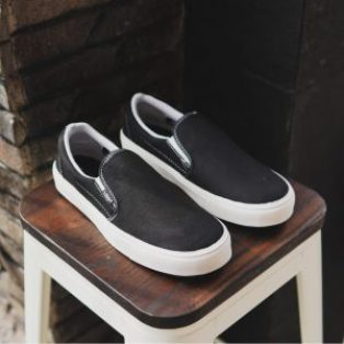 Sepatu vans slop hitam grande original