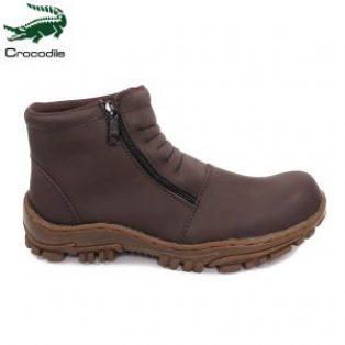 Sepatu boots crocodile strutch