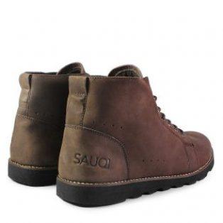 Sepatu boots kulit sapi asli sauqi barbados