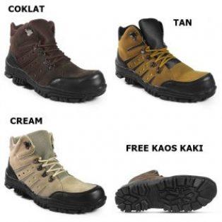 Sepatu safety/tracking crocodile