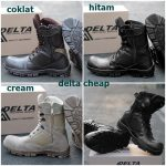 Sepatu boot Pria safety delta ujung besi