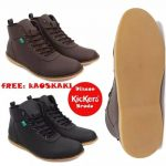 Sauqi Footwear Jager Sepatu slop / slipon Kulit Asli original full up leather