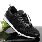 Sepatu pria casual walkers tifo black sepatu olahraga